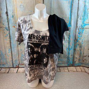 VS Pink Aerosmith Tee & Leggings L